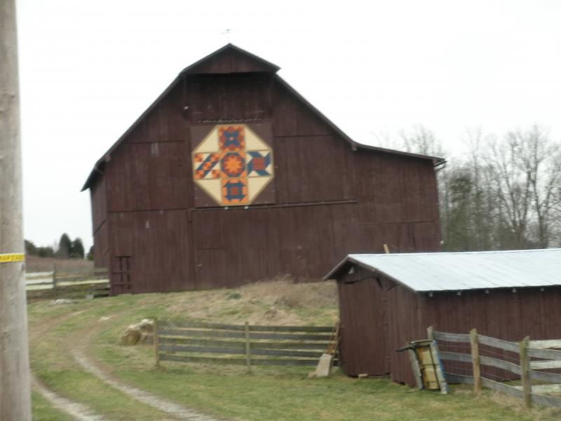 barn quilt with barn